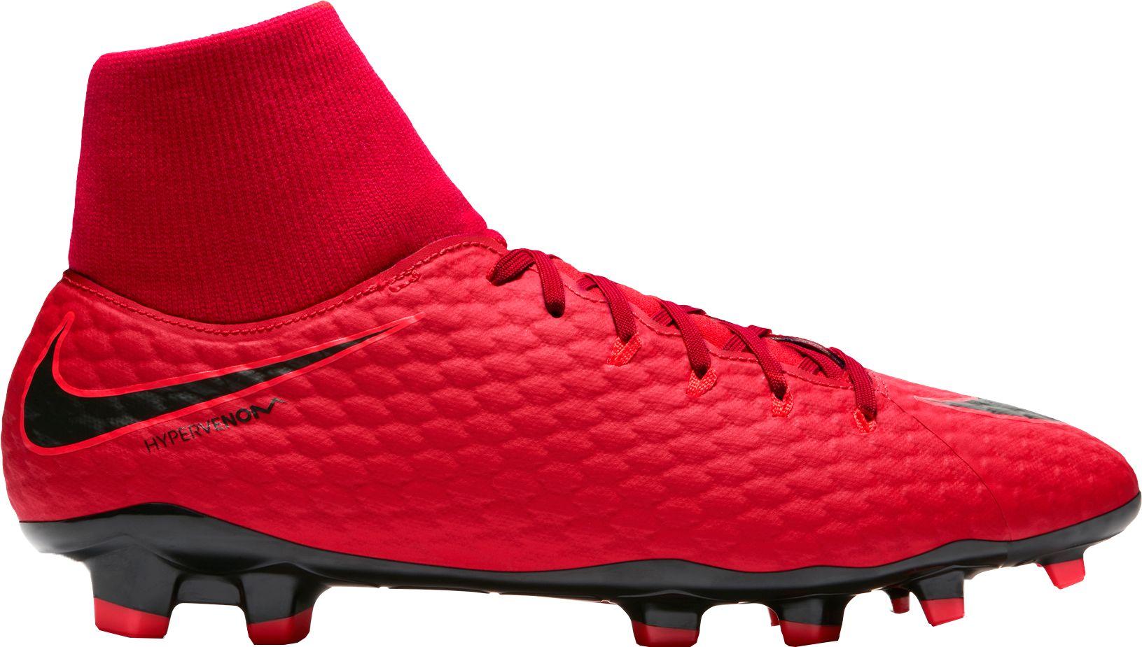 Product Image � Nike Men\u0027s Hypervenom Phelon III Dynamic Fit FG Soccer  Cleats. Red/Black