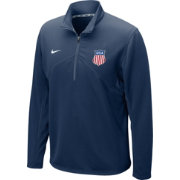Nike Men's USA Hockey Dri-FIT Navy Performance Quarter-Zip Pullover