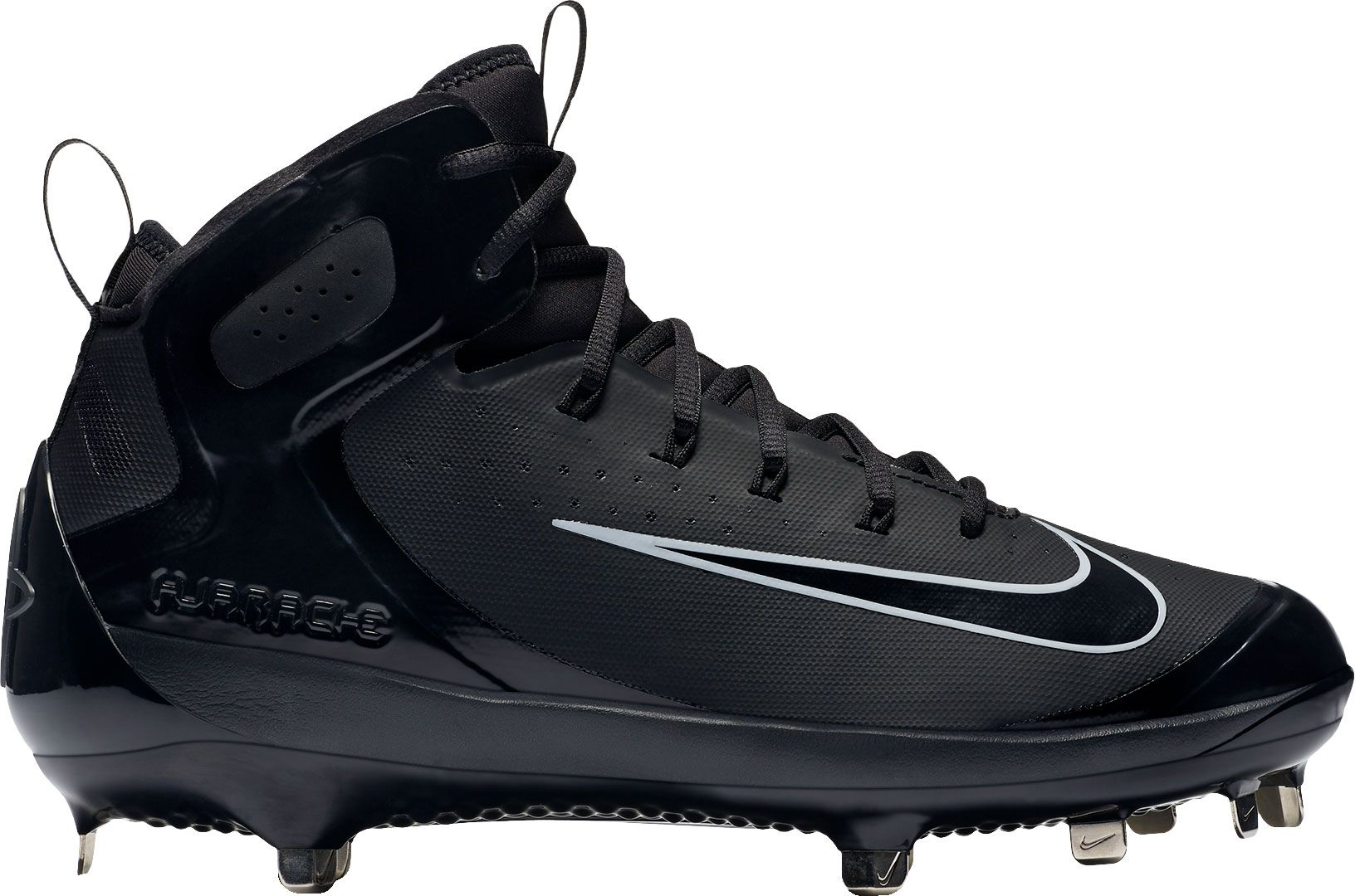 Product Image � Nike Men\u0027s Alpha Huarache Elite Mid Baseball Cleats. Black/ Black; Black/White ...