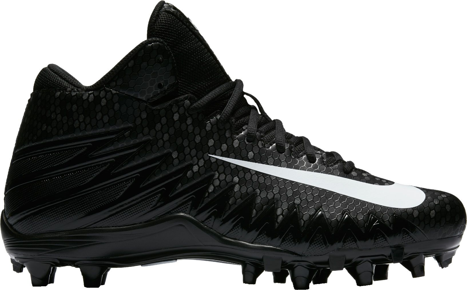 Product Image � Nike Men\u0027s Alpha Menace Varsity Mid Football Cleats � Black/ White