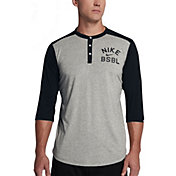 Nike Men's ¾-Sleeve Henley Baseball Top