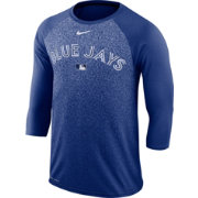 Nike Men's Toronto Blue Jays Dri-FIT Authentic Collection Legend Three-Quarter Sleeve Shirt