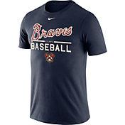 Nike Men's Atlanta Braves Practice Navy T-Shirt
