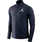Nike Men's Atlanta Braves Dri-FIT Element Half-Zip Jacket