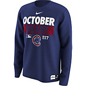 "Nike Men's Chicago Cubs 2017 MLB Postseason Dri-FIT Authentic Collection ""October Ready"" Royal Long Sleeve Shirt"