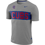 Nike Men's Chicago Cubs Dri-FIT Stripe Wordmark T-Shirt