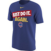"""Nike Men's Chicago Cubs """"Just Do It. Again."""" Royal T-Shirt"""