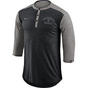 Nike Men's San Francisco Giants Dri-FIT Three-Quarter Sleeve Henley Shirt