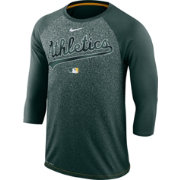 Nike Men's Oakland Athletics Dri-FIT Authentic Collection Legend Three-Quarter Sleeve Shirt
