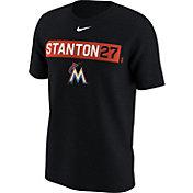 Nike Men's Miami Marlins Giancarlo Stanton Dri-FIT Black Legend T-Shirt