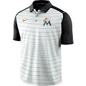 Nike Men's Miami Marlins Striped Polo