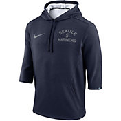 Nike Men's Seattle Mariners Three-Quarter Sleeve Hooded Fleece Pullover