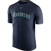 Nike Men's Seattle Mariners Dri-FIT Legend Wordmark Navy T-Shirt