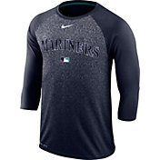 Nike Men's Seattle Mariners Dri-FIT Authentic Collection Legend Three-Quarter Sleeve Shirt