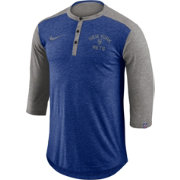 Nike Men's New York Mets Dri-FIT Three-Quarter Sleeve Henley Shirt