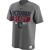 "Nike Men's Cleveland Indians 2017 MLB Postseason Dri-FIT Authentic Collection ""October Ready"" Grey T-Shirt"