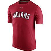 Nike Men's Cleveland Indians Dri-FIT Legend Wordmark Red T-Shirt