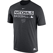 Nike Men's Washington Nationals Dri-FIT Authentic Collection Grey Legend T-Shirt