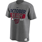 "Nike Men's Washington Nationals 2017 MLB Postseason Dri-FIT Authentic Collection ""October Ready"" Grey T-Shirt"