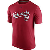 Nike Men's Washington Nationals Dri-FIT Legend Wordmark Red T-Shirt