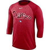 Nike Men's Philadelphia Phillies Dri-FIT Authentic Collection Legend Three-Quarter Sleeve Shirt