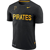 Nike Men's Pittsburgh Pirates Dri-FIT Stripe Wordmark T-Shirt