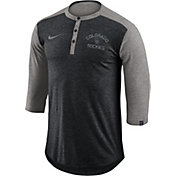 Nike Men's Colorado Rockies Dri-FIT Three-Quarter Sleeve Henley Shirt