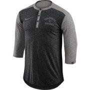 Nike Men's Colorado Rockies Dri-FIT Three-Quarter Sleeve Henley Shirt