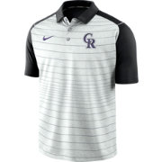 Nike Men's Colorado Rockies Striped Polo