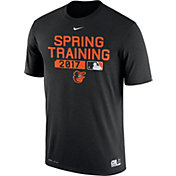 Nike Men's Baltimore Orioles Dri-FIT Spring Training Authentic Collection Black Legend T-Shirt
