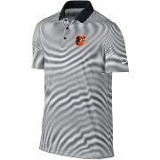 Nike Men's Baltimore Orioles Dri-FIT Black Victory Mini Stripe Polo