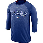 Nike Men's Texas Rangers Dri-FIT Authentic Collection Legend Three-Quarter Sleeve Shirt
