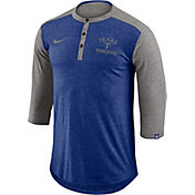 Nike Men's Texas Rangers Dri-FIT Three-Quarter Sleeve Henley Shirt