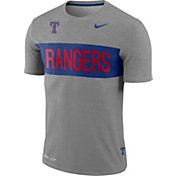 Nike Men's Texas Rangers Dri-FIT Stripe Wordmark T-Shirt