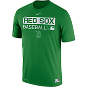 Nike Men's Boston Red Sox Dri-FIT Authentic Collection Green Legend T-Shirt