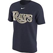 Nike Men's Tampa Bay Rays Memorial Day Navy T-Shirt