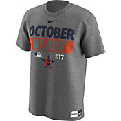 "Nike Men's Houston Astros 2017 MLB Postseason Dri-FIT Authentic Collection ""October Ready"" Grey T-Shirt"