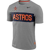 Nike Men's Houston Astros Dri-FIT Stripe Wordmark T-Shirt
