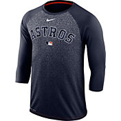 Nike Men's Houston Astros Dri-FIT Authentic Collection Legend Three-Quarter Sleeve Shirt