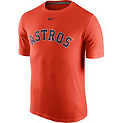 Nike Men's Houston Astros Dri-FIT Legend Wordmark Orange T-Shirt