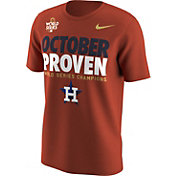 "Nike Men's 2017 World Series Champions Houston Astros ""October Proven"" Orange T-Shirt"