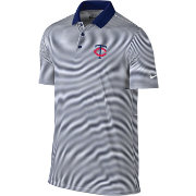 Nike Men's Minnesota Twins Dri-FIT Navy Victory Mini Stripe Polo