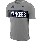 Nike Men's New York Yankees Dri-FIT Stripe Wordmark T-Shirt