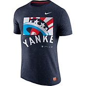 Nike Men's New York Yankees Cooperstown Navy Tri-Blend T-Shirt