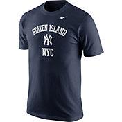 """Nike Men's New York Yankees """"Staten Island NYC"""" Navy T-Shirt"""