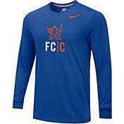 Nike Men's FC Cincinnati Core Logo Royal Long Sleeve T-Shirt