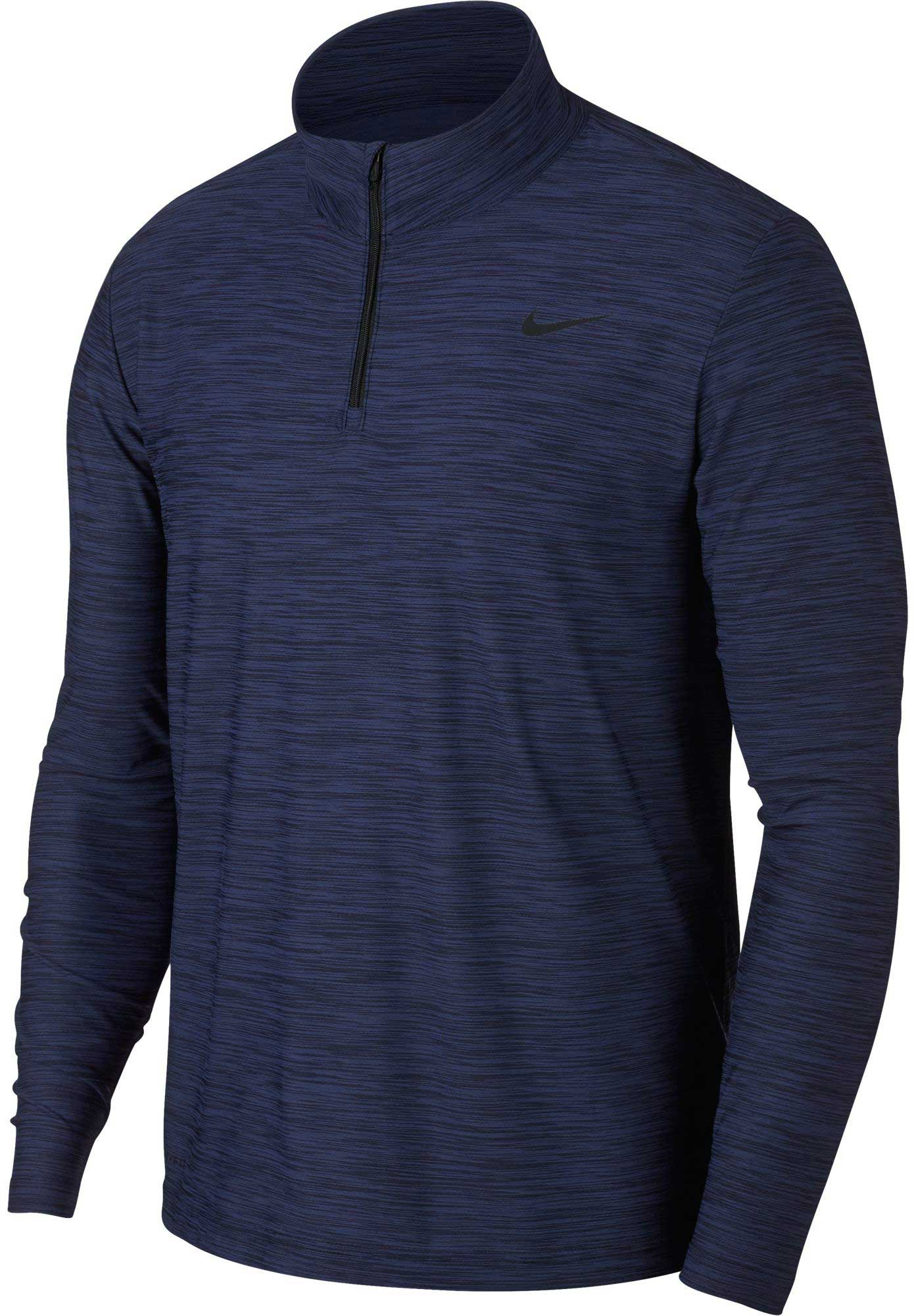 Nike Men's Breathe Dry Quarter Zip Long Sleeve Shirt | DICK'S ...