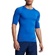 Nike Men's Pro Half Sleeve Compression Football Shirt