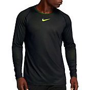 Nike Men's Pro Colorburst Long Sleeve Fitted Shirt