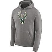 Nike Men's Milwaukee Bucks Club Grey Pullover Hoodie